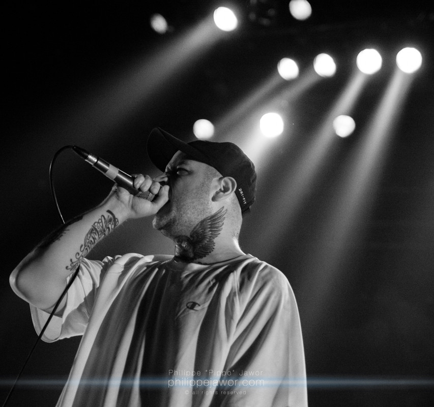 "The American deathcore band Emmure, live in Lyon, France, June 2018.  © Philippe ""Pippo"" Jawor All rights reserved."