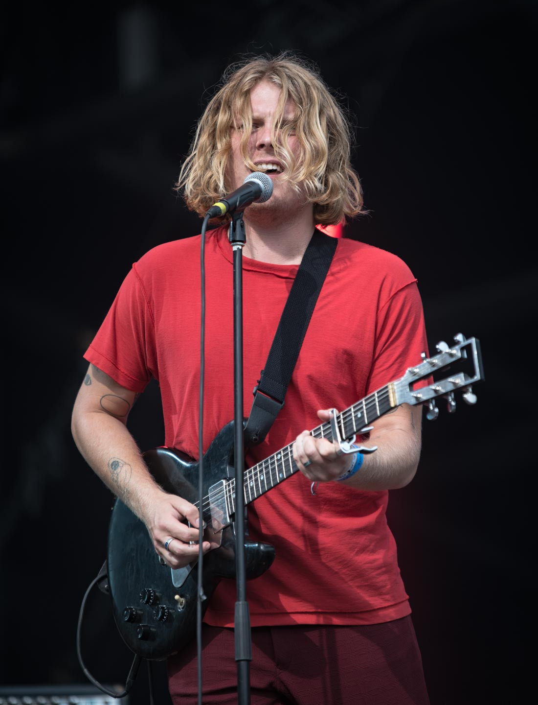 The American rock artist Ty Segall, live at Rock en Seine festival, Paris, France, August 2017.  On assignment for ZYVA Magazine All rights reserved.