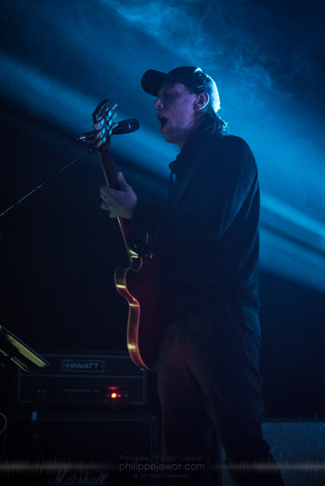 "Stian Westerhus, guitarist of the Norwegian experimental metal band Ulver live in Lyon, France, November 2017.  © Philippe ""Pippo"" Jawor All rights reserved."