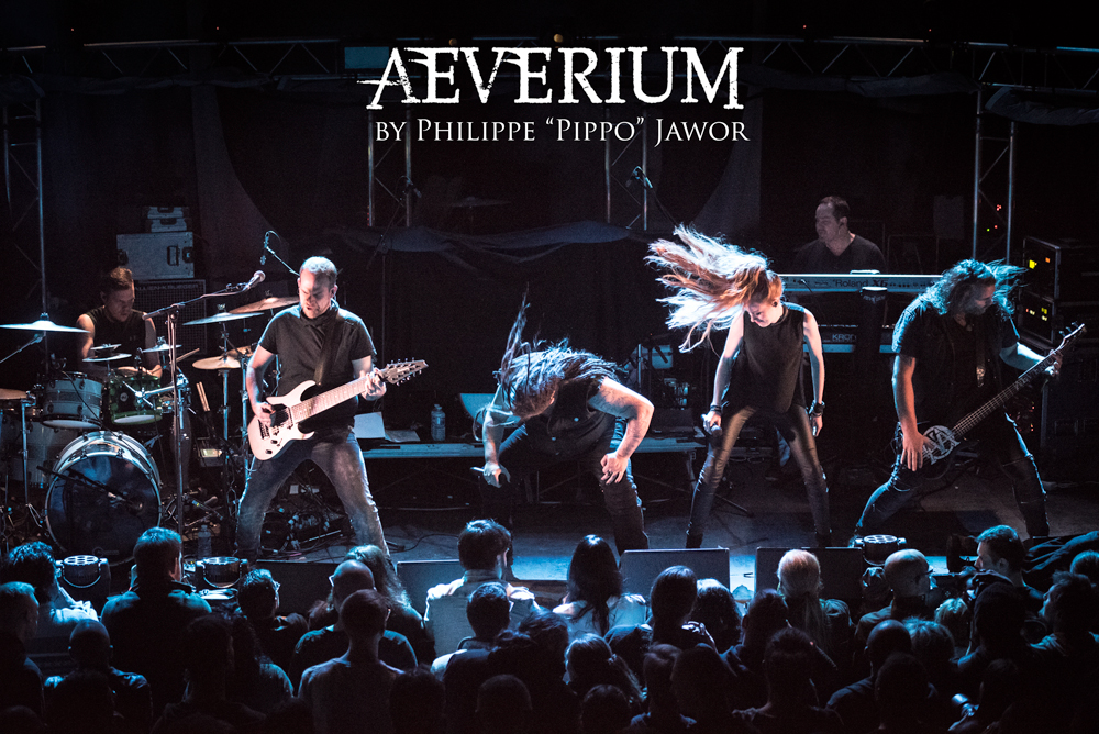 """The German alternative metal band Aeverium, live in Lyon, France, December 2017.  © Philippe """"Pippo"""" Jawor All rights reserved."""