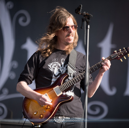 """The Swedish progressive metal band Opeth, live at Download Festival France, June 2018.  © Philippe """"Pippo"""" Jawor All rights reserved."""
