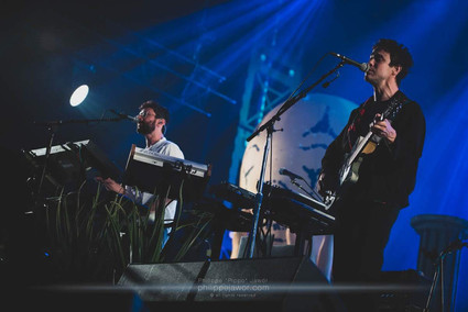 """The American alternative rock band MGMT, live at Beauregard Festival, Hérouville-Saint-Clair, France, July 2018  © Philippe """"Pippo"""" Jawor All rights reserved."""