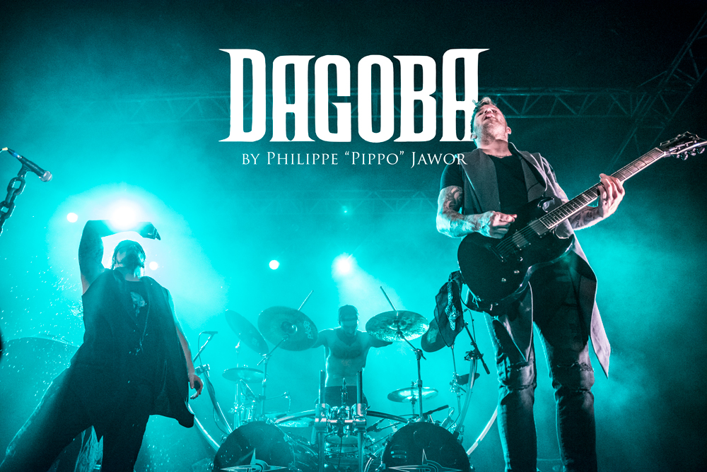 """The French melodic death metal band Dagoba, live in Lyon, France, January 2018.  © Philippe """"Pippo"""" Jawor All rights reserved."""