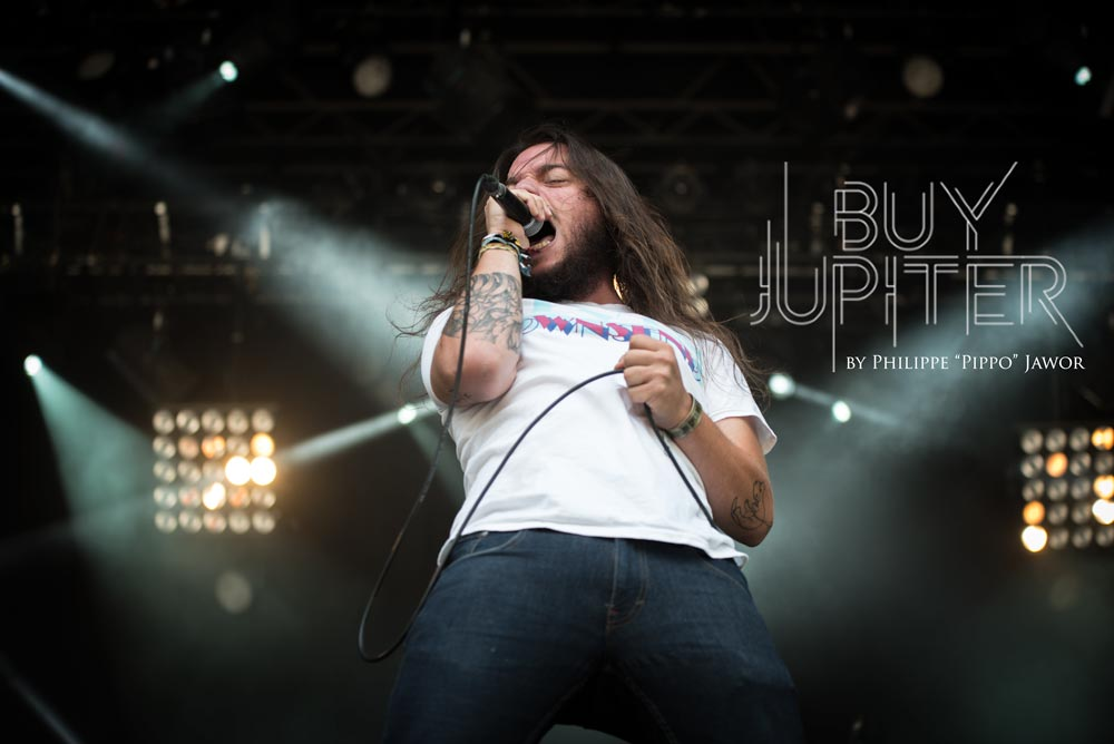 The French modern metal band Buy Jupiter, live at Sylak Open Air festival, Saint Maurice de Gourdans, France, August 2017.  On assignment for Metal Obs' Magazine All rights reserved.