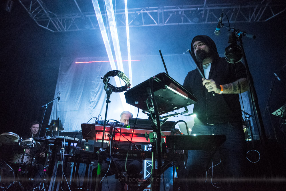 "The Norwegian experimental metal band Ulver live in Lyon, France, November 2017.  © Philippe ""Pippo"" Jawor All rights reserved."
