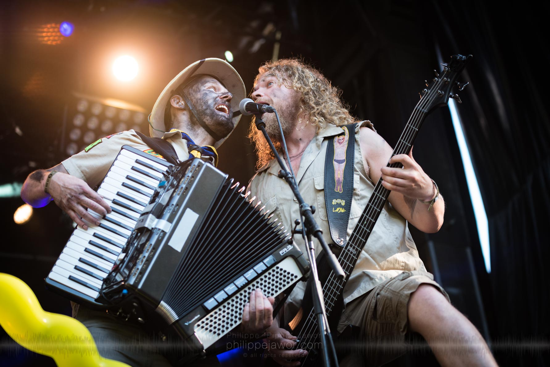 The Norwegian folk metal band Trollfest, live at Sylak Open Air festival, Saint Maurice de Gourdans, France, August 2017.  On assignment for Metal Obs' Magazine All rights reserved.