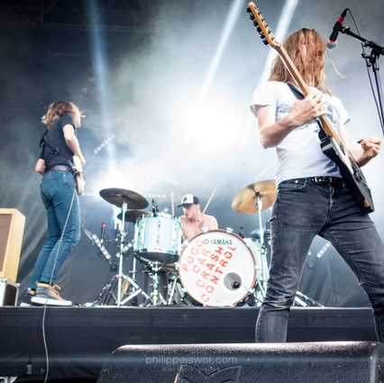 """The French Punk band Pogo Car Crash Control, live at Download Festival France, June 2018.  © Philippe """"Pippo"""" Jawor All rights reserved."""