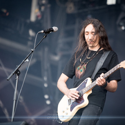 """The French post black metal band Alcest, live at Download Festival France, June 2018.  © Philippe """"Pippo"""" Jawor All rights reserved."""