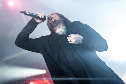 """The Australian deathcore band Thy Art Is Murder, live at Download Festival France, June 2018.  © Philippe """"Pippo"""" Jawor All rights reserved."""