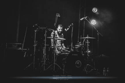 """The Angolan / Portuguese rockuduro band Throes + the Shine, live at Foreztival, Trelins, France, August 2019.  © Philippe """"Pippo"""" Jawor All rights reserved."""
