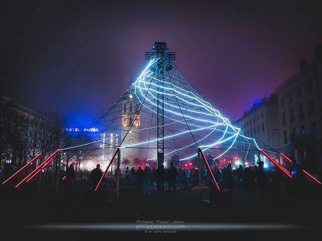 Pavillon, par Sébastien Lefèvre, place Antonin Poncet, Lyon, Fête des Lumières 2019