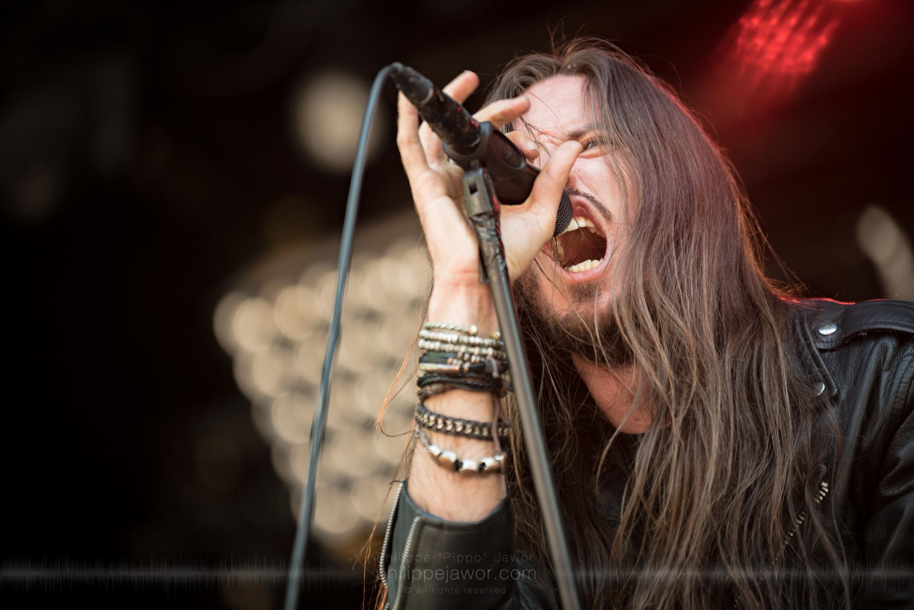 The French black metal band Regarde Les Hommes Tomber, live at Sylak Open Air festival, Saint Maurice de Gourdans, France, August 2017.  On assignment for Metal Obs' Magazine All rights reserved.