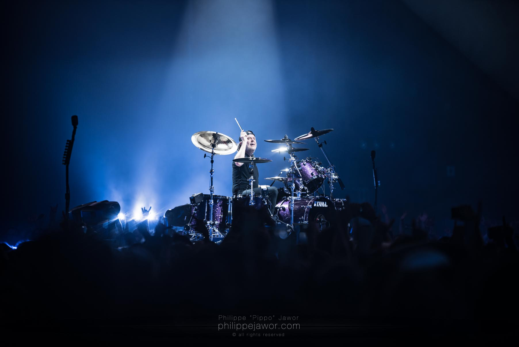 The American thrash metal band Metallica, live in Lyon (Halle Tony Garnier), France, September 2017.  On assignment for Metal Obs' Magazine. All rights reserved.