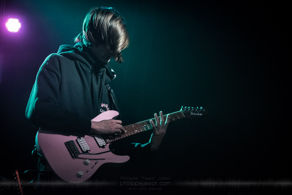 "Timothy Henson, guitarist of the American progressive metal band Polyphia, live in Lyon, France, November 2017.  © Philippe ""Pippo"" Jawor All rights reserved."