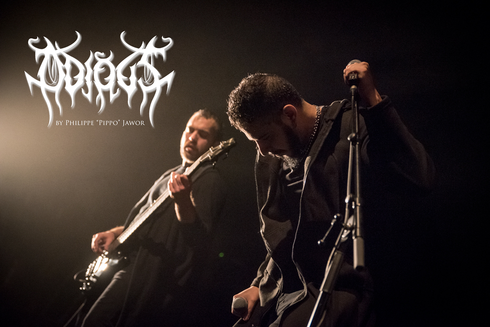 """The Egyptian symphonic death metal band Odious, live in Lyon, France, January 2018.  © Philippe """"Pippo"""" Jawor All rights reserved."""