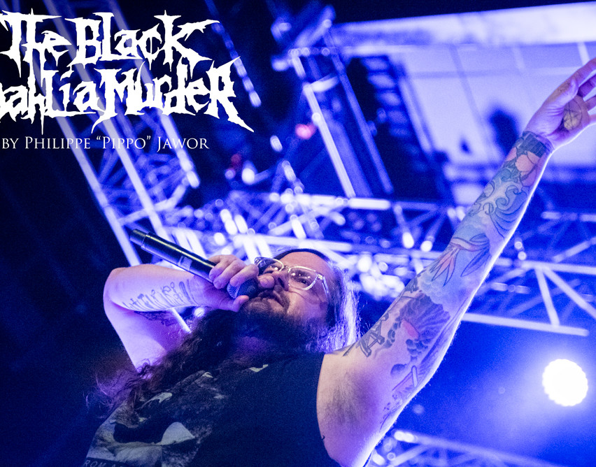 "The American death metal band The Black Dahlia Murder, live in Saint-Étienne, France, March 2018.  © Philippe ""Pippo"" Jawor All rights reserved."