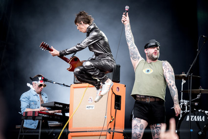 """The Norwegian deathpunk band Turbonegro, live at Download Festival France, June 2018.  © Philippe """"Pippo"""" Jawor All rights reserved."""