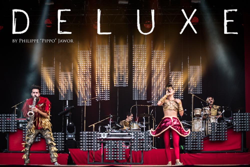The French electro pop band Deluxe, live at Rock en Seine festival, Paris, France, August 2017.  On assignment for ZYVA Magazine All rights reserved.