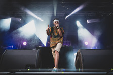 """The French rapper Rachid """"Demi Portion"""" Daif, live at Foreztival festival, Trelins, France, August 2019.  © Philippe """"Pippo"""" Jawor All rights reserved."""