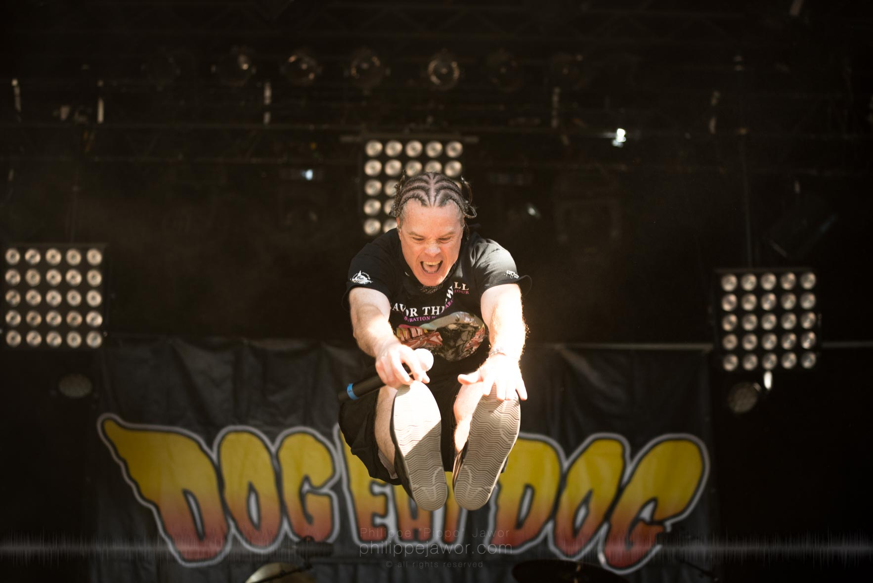 The American hardcore punk band Dog Eat Dog, live at Sylak Open Air festival, Saint Maurice de Gourdans, France, August 2017.  On assignment for Metal Obs' Magazine All rights reserved.