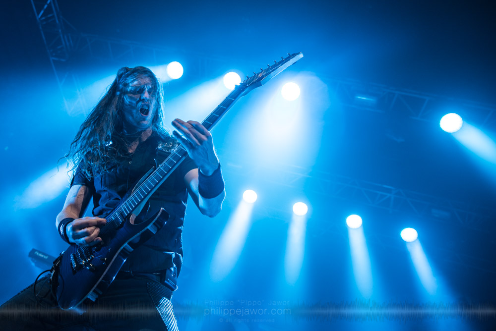 """Mark Jansen, guitarist of the Dutch symphonic metal band Epica live in Lyon, France, November 2017.  © Philippe """"Pippo"""" Jawor All rights reserved."""