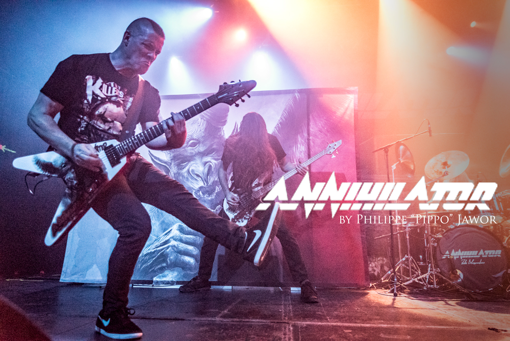 """the Canadian thrash metal band Annihilator, live in Lyon, France, December 2017.  © Philippe """"Pippo"""" Jawor All rights reserved."""
