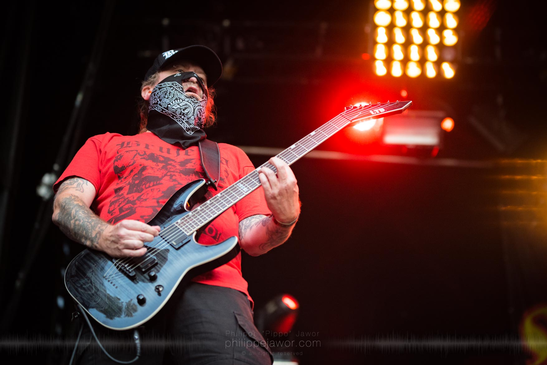 The Mexican deathgrind metal band Brujeria, live at Sylak Open Air festival, Saint Maurice de Gourdans, France, August 2017.  On assignment for Metal Obs' Magazine All rights reserved.