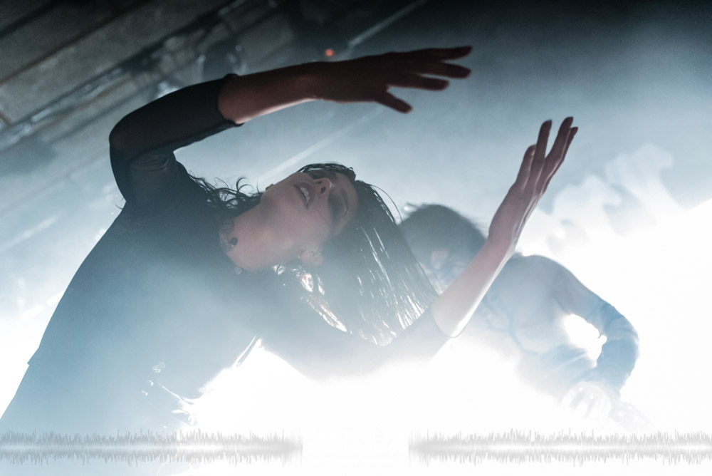 """Laure Le Prunenec, singer of the French breakcore metal project Igorrr, live in Lyon, France, November 2017.  © Philippe """"Pippo"""" Jawor All rights reserved."""
