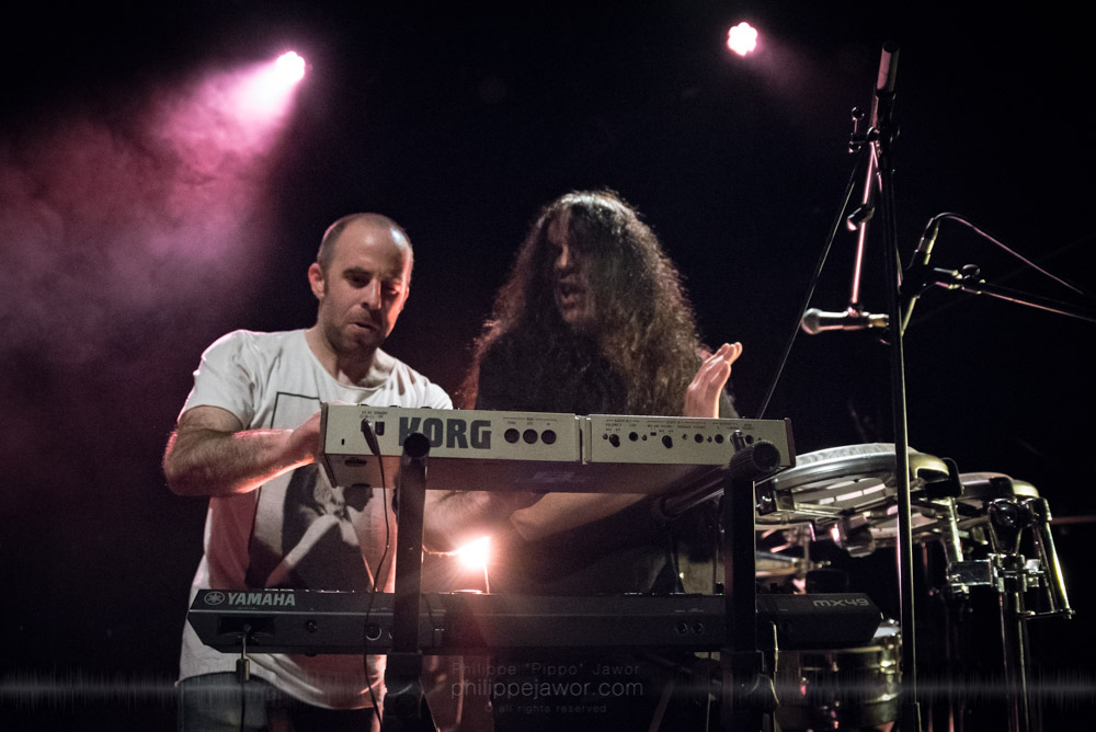 """The Australian astral space core band Alithia, live in Lyon, France, November 2017.  © Philippe """"Pippo"""" Jawor All rights reserved."""