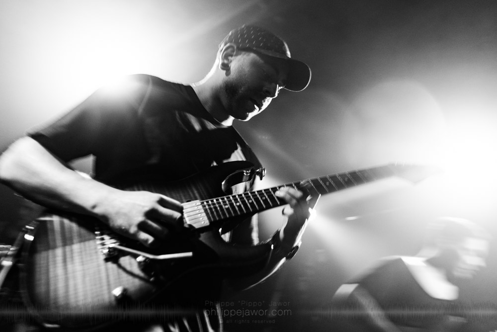 "Aaron Marshall, guitarist of the Canadian progressive metal band Intervals, live in Lyon, France, November 2017.  © Philippe ""Pippo"" Jawor All rights reserved."