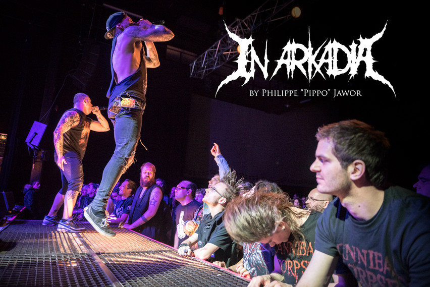 "The French death metal band In Arkadia, live in Saint-Étienne, France, March 2018.  © Philippe ""Pippo"" Jawor All rights reserved."