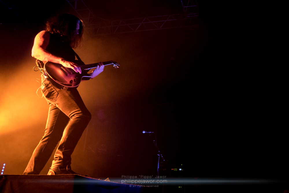 """Alex Skolnick, guitarist of the American thrash metal band Testament, live in Lyon, France, December 2017.  © Philippe """"Pippo"""" Jawor All rights reserved."""