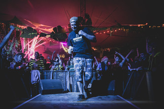 """The French reggae artist Taiwan MC, live at Foreztival festival, Trelins, France, August 2019.  © Philippe """"Pippo"""" Jawor All rights reserved."""