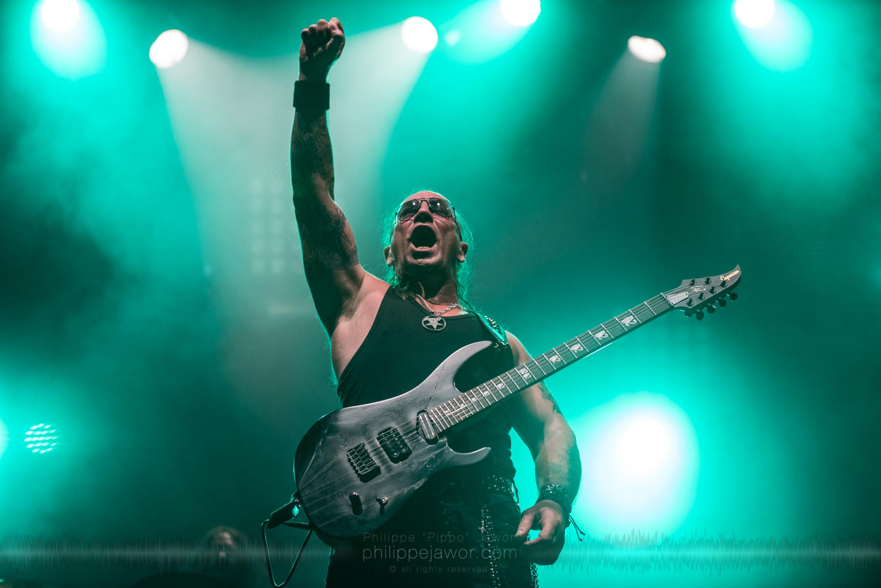 The British heavy metal band Venom Inc. live at Sylak Open Air festival, Saint Maurice de Gourdans, France, August 2017.  On assignment for Metal Obs' Magazine All rights reserved.
