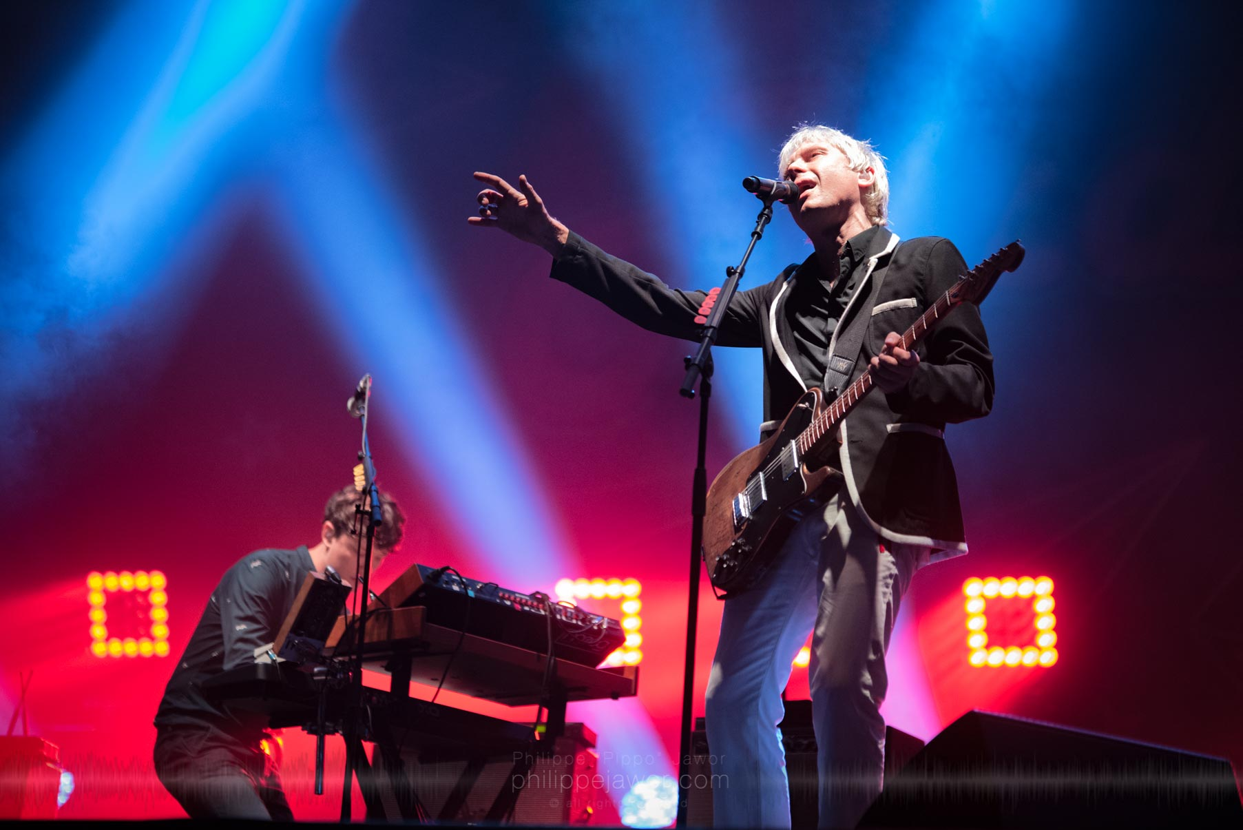 The Scottish rock band Franz Ferdinand, live at Rock en Seine festival, Paris, France, August 2017.  On assignement for ZYVA Magazine All rights reserved.