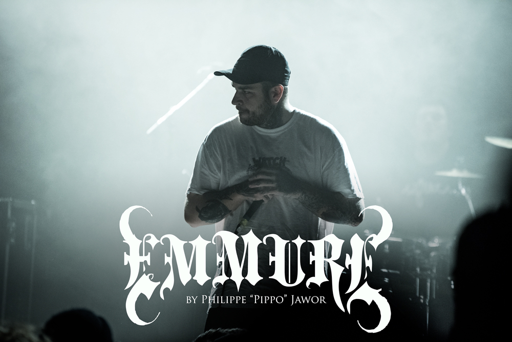 """Frankie Palmeri, lead singer of the American metalcore band Emmure, live in Lyon, France, November 2017.  © Philippe """"Pippo"""" Jawor All rights reserved."""