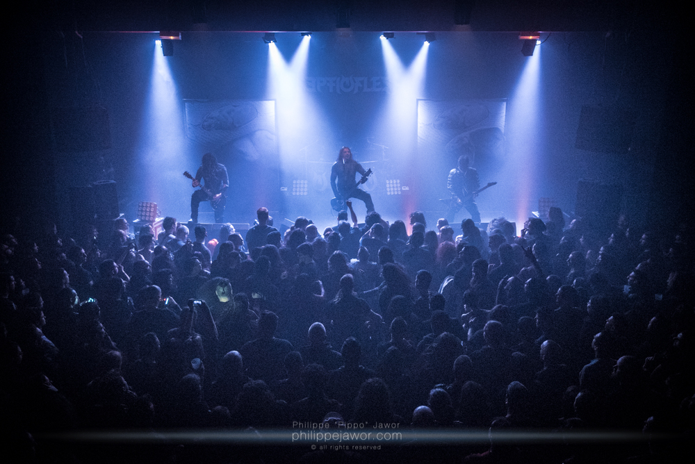 """The Greek symphonic death metal band Septicflesh, live in Lyon, France, January 2018.  © Philippe """"Pippo"""" Jawor All rights reserved."""