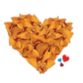 """""""To Die For"""" Sweet Potato Kettle Cooked Chips, sweet heart, sweet potato hearts, radically crunchy, chip art"""