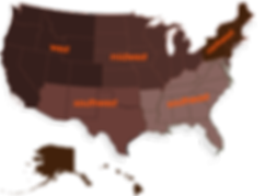 USA Map with regions, Epicurean Feast Cafés Foodservice is available, USA Map Graphics
