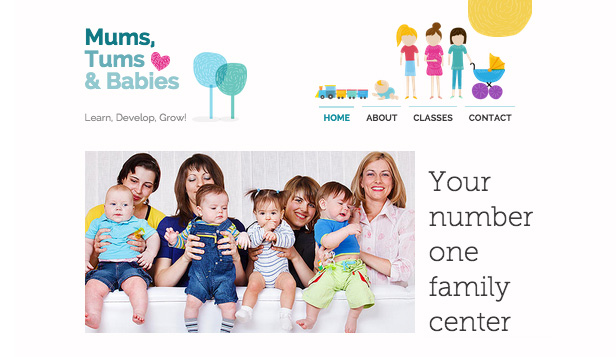 See All Templates website templates – Mom and Baby Center