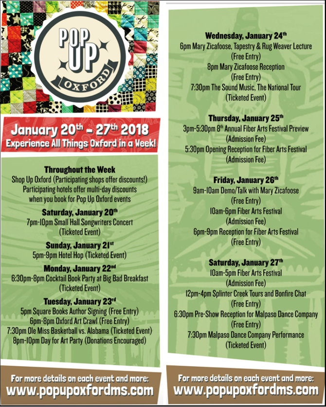 There's Always Something Fun to Do in Oxford, MS! Check it out!