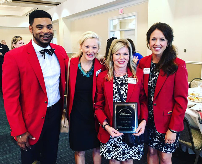 """I am one of """"The Red Coats"""" of the Oxford-Lafayette County MS Chamber of Commerce"""