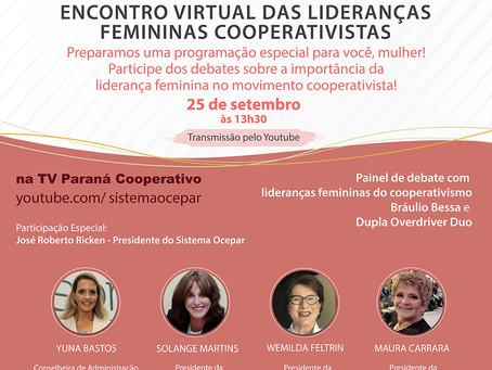 MULHERES - Ocepar promove encontro de mulheres cooperativistas na versão online