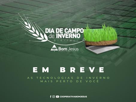 INOVAÇÃO - Dia de Campo de Inverno 2020 será em plataforma digital