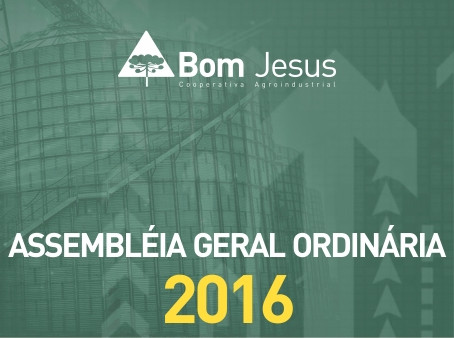 Cooperativa Bom Jesus vai realizar AGO 2016