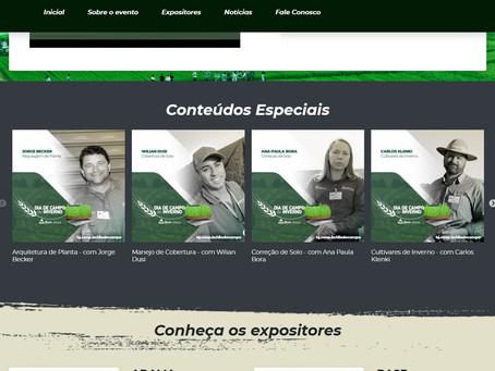 DIA DE CAMPO DE INVERNO - Plataforma tem mais de 5000 visualizações nos 4 primeiros dias