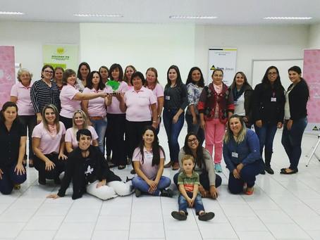 """Núcleo Feminino da Cooperativa Agroindustrial Bom Jesus reunidos para o curso """"Comunicação Assertiva"""