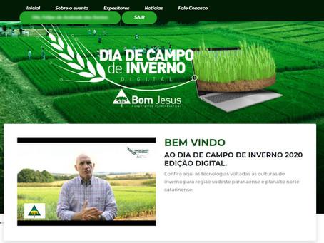 DIA DE CAMPO DE INVERNO 2020 - Evento digital aproxima o campo experimental dos cooperados