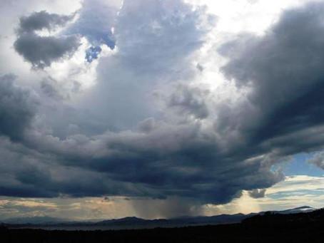 Fim de semana com chuvas na região sudeste do Estado