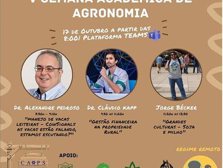 CONHECIMENTO - Consultor técnico Jorge Becker realizou palestra sobre agricultura na UTP